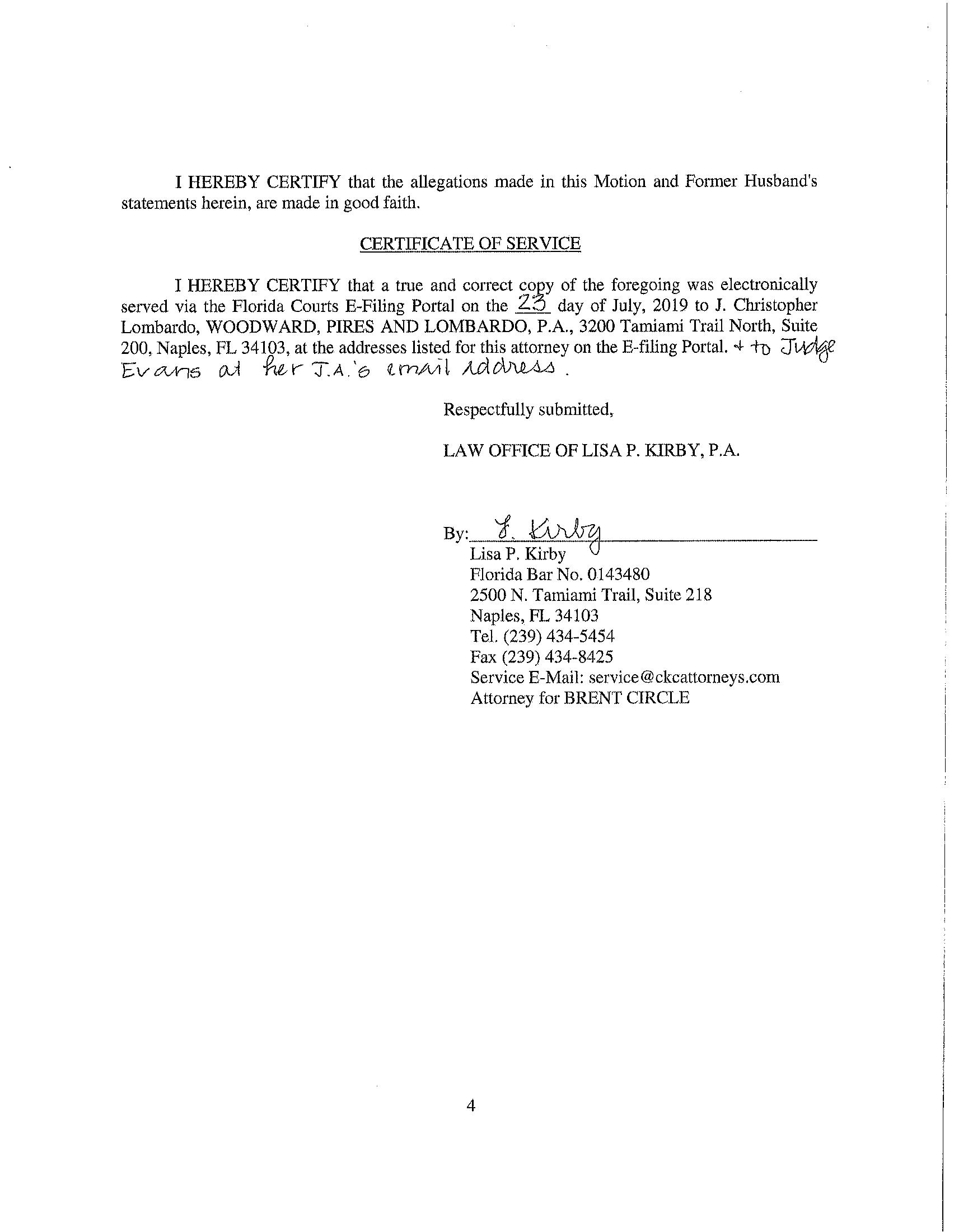 Motion to recuse trial judge (4/6)